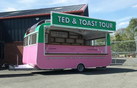 Ted and Toast Tour Printed Vehicle Wrap for Ted Baker