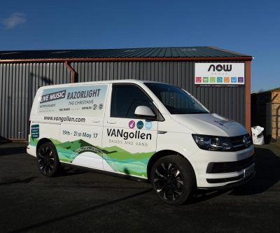Vangollen Music Festival Vehicle Wrap - Event vehicle graphics