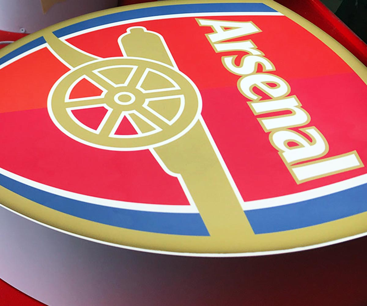 Arsenal FC Badge in Built Up Letters Signage