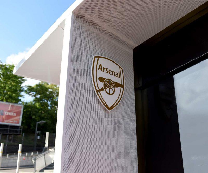 Arsenal FC White badge