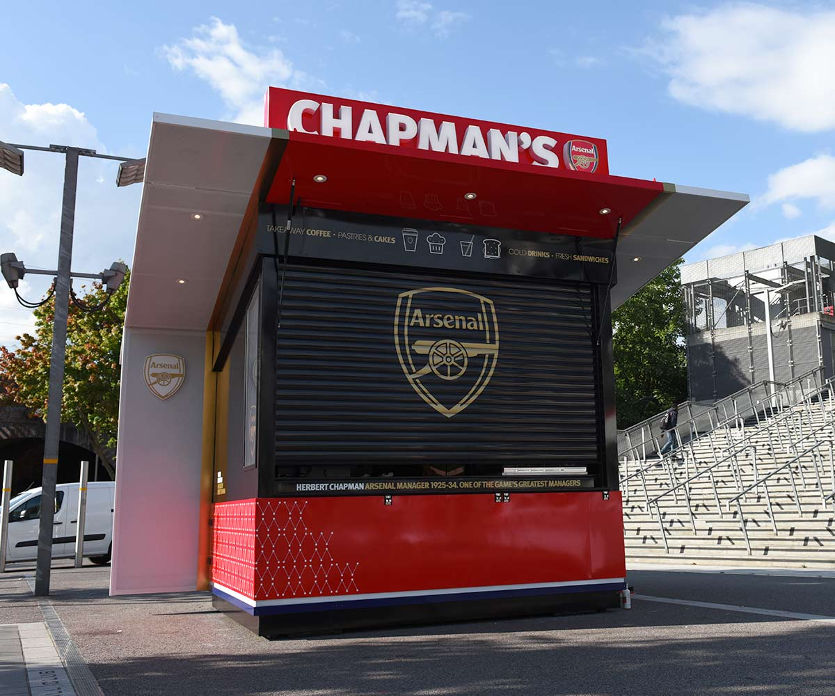 Herbert Chapman Food Kiosk for Arsenal FC