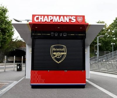 Arsenal FC Chapmans Kiosk closed view