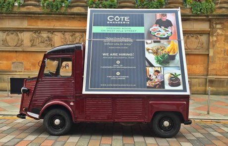 Cote Brasserie Advertising Vehicle