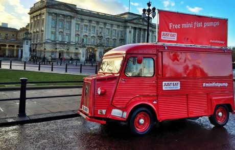 Just Eat HY Van at Buckingham Palace