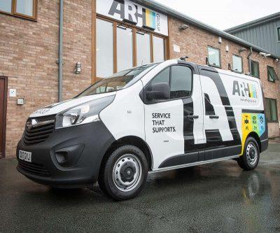 ARH Shrewsbury Fleet Vehicle Graphics