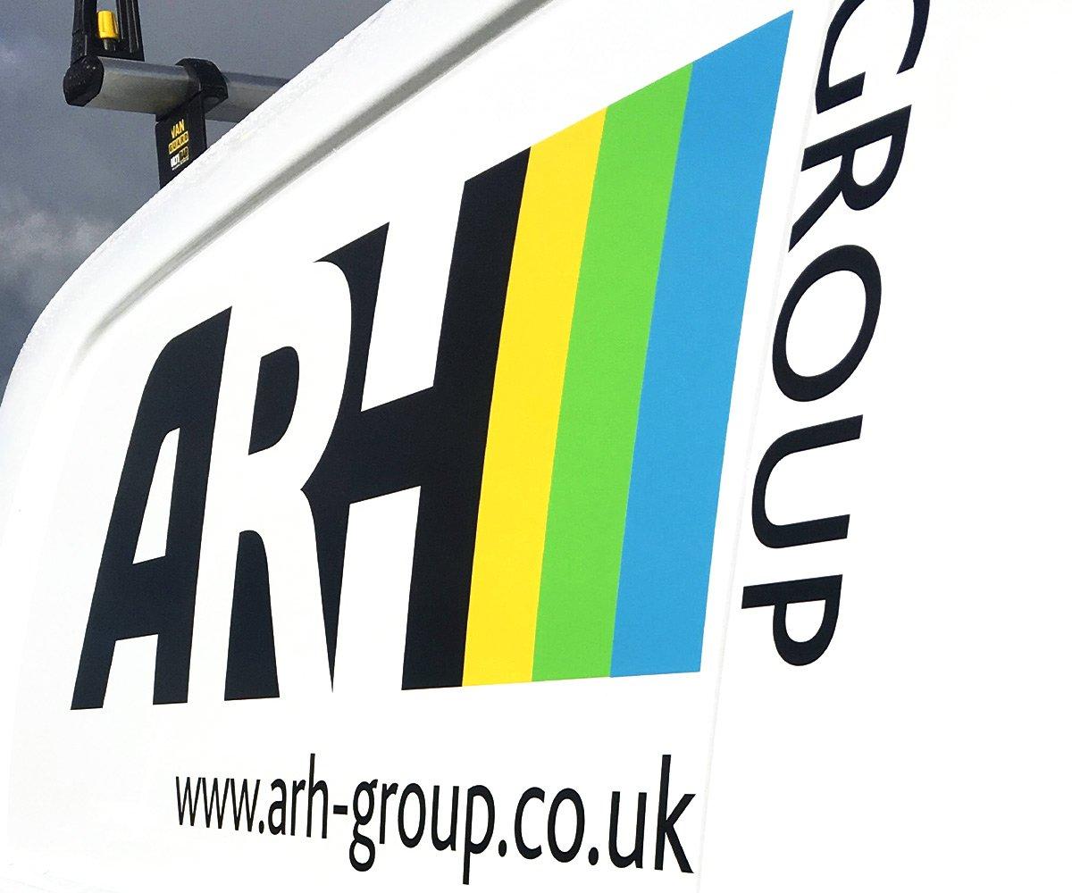 ARH logo close up of vehicle livery