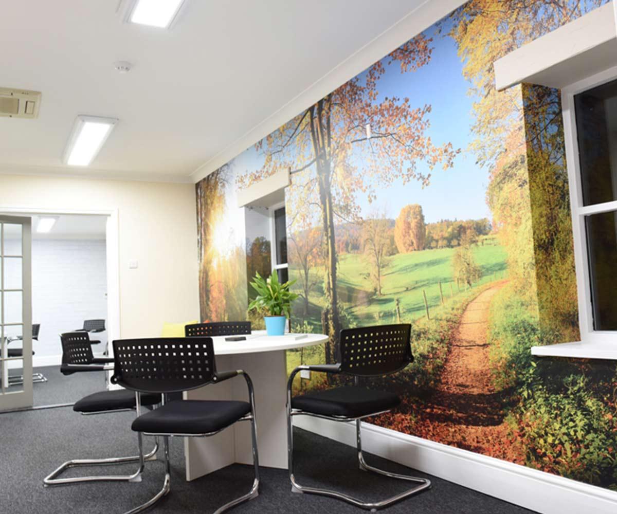 Brands Solutions Office branding- printed wall murals
