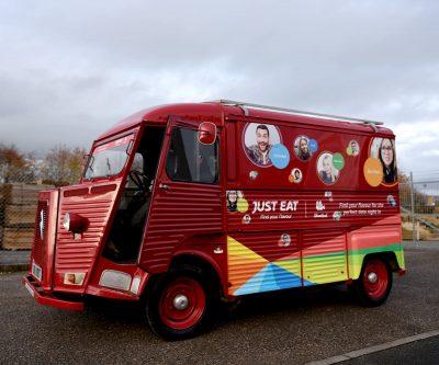 Just Eat HY Van promotional vehicle wrap - Red HY Van