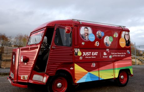 Just Eat HY Van promotional vehicle wrap - Red HY Van