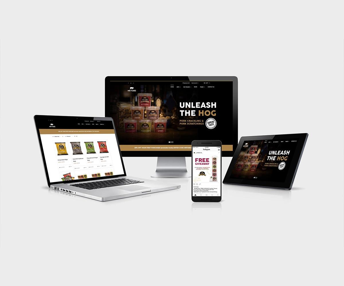 Mr Tubs Website Design - Ecommerce Website Design Oswestry