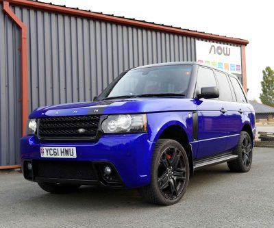 Range Rover Kahn Blue vehicle wrap