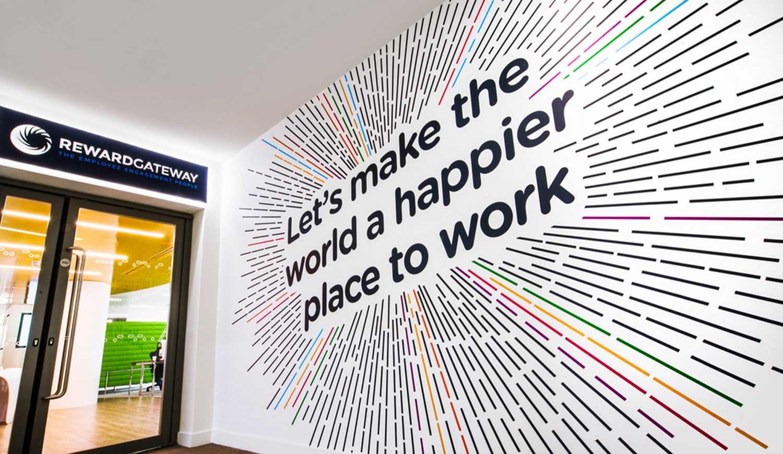 Bright Colourful wall print - Creative Spaces