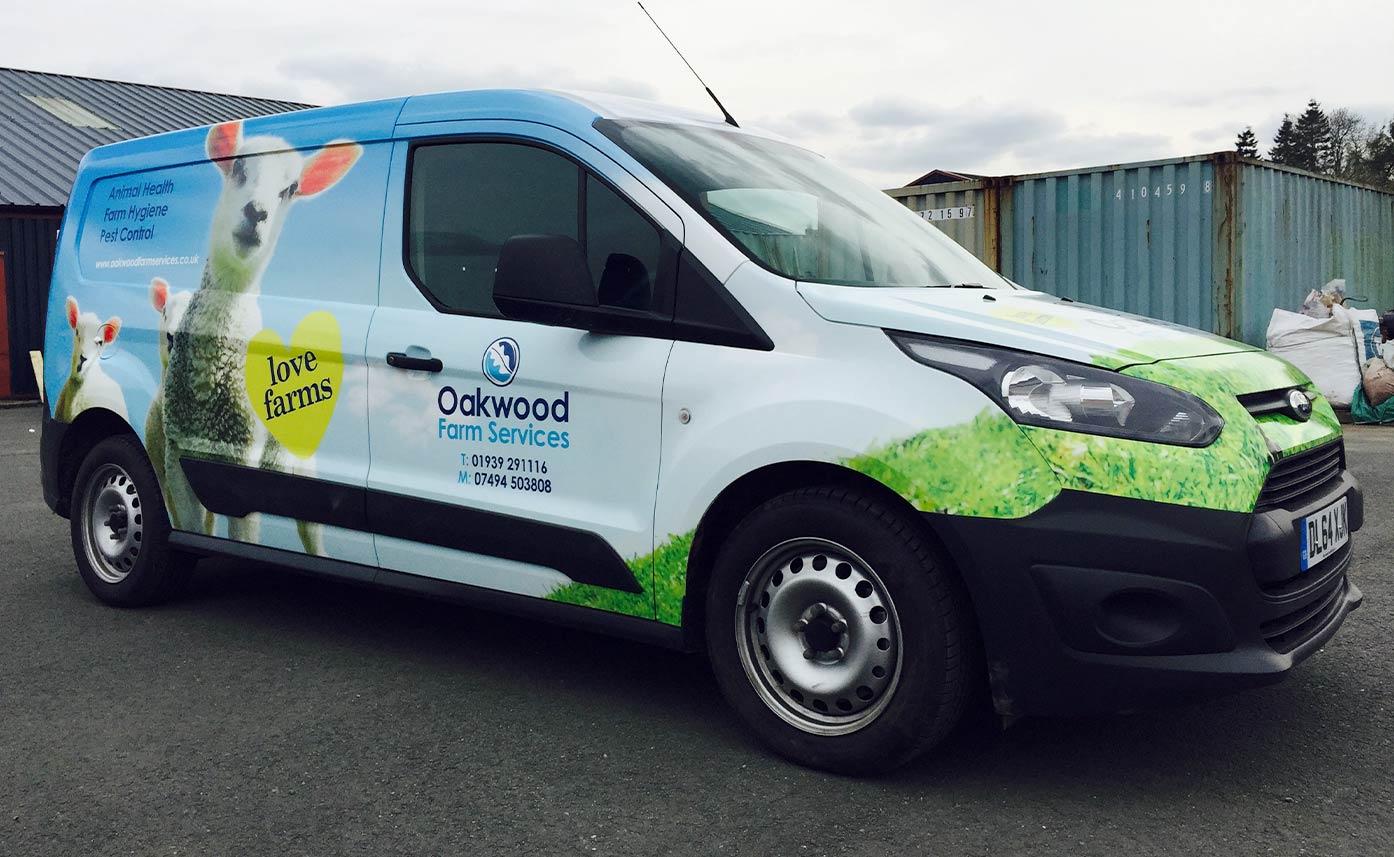 Oakwood Farm Oswestry vehicle wrap Ford wrap
