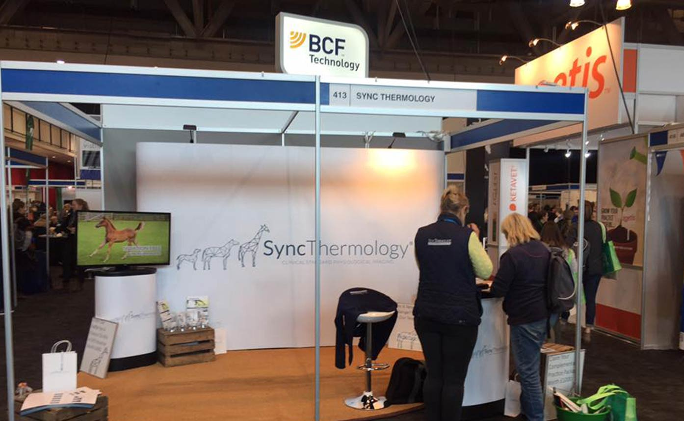 Syncthermology Exhibition Stand Pop up - Veterinary DITI