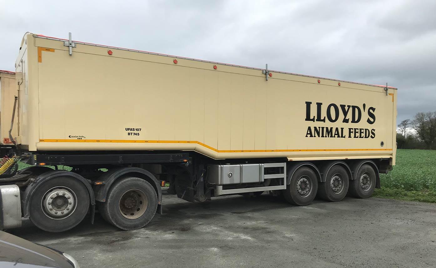 Lloyd's Animal Feeds Trailer Vehicle Decals