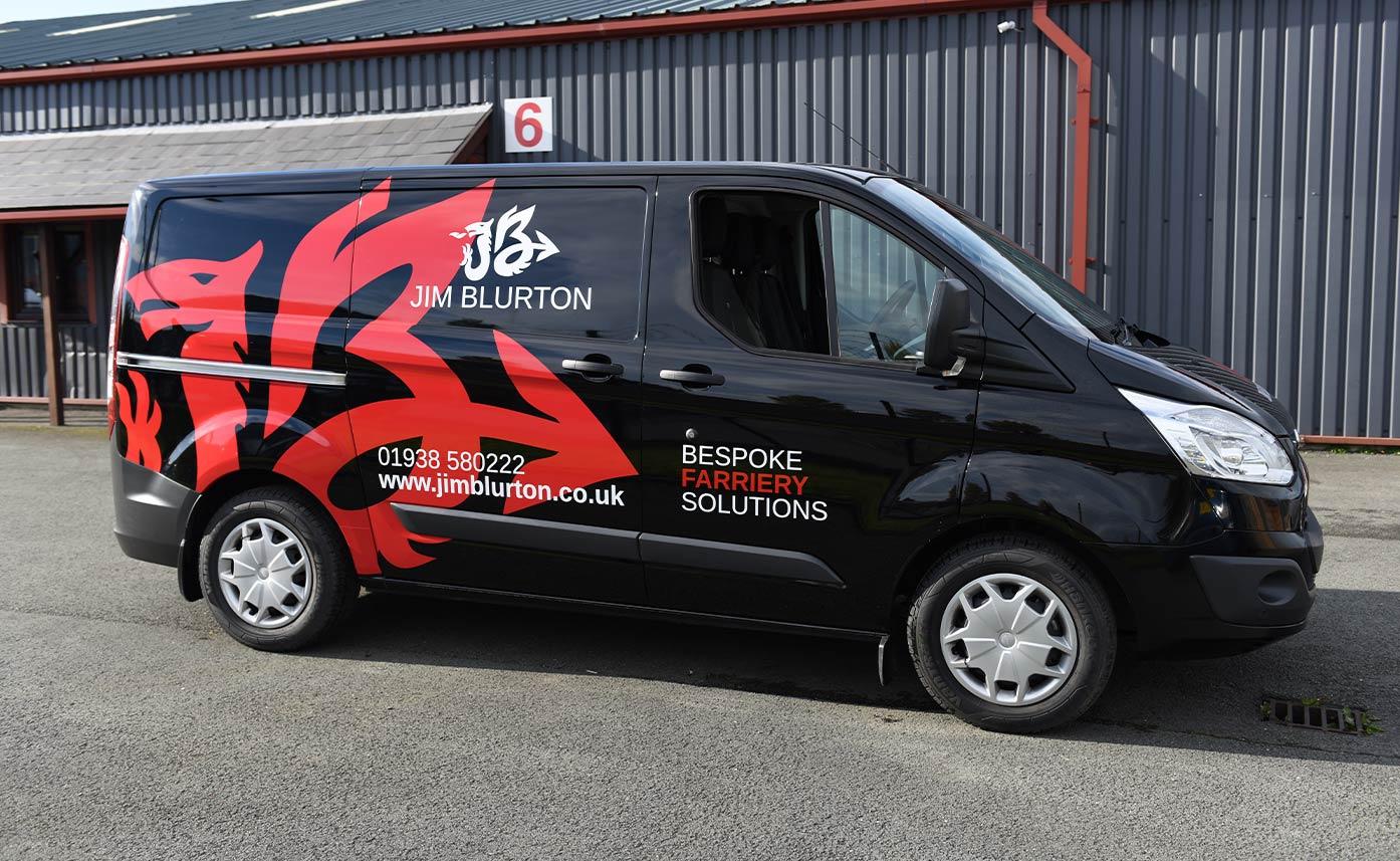 Vehicle Wrap for Jim Blurton Farriery - Welsh Dragon Vehicle Wrap