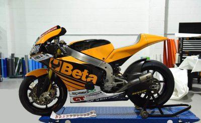 Motorbike wrap - orange and black motorbike wrap