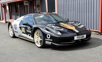 Ferrari Spider Wrap - Black and Silver Ferrari Wrap - Rico Rally