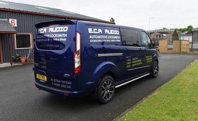 ECA Audio Vehicle livery - silver vehicle decals