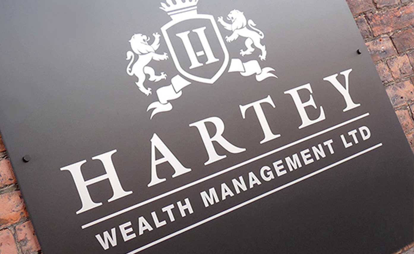 Hartey Wealth Management wall sign