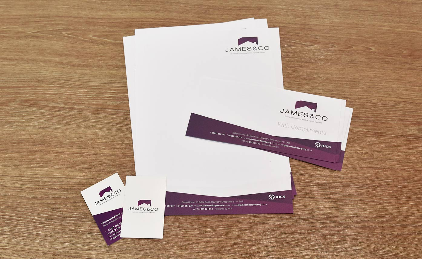 James & Co Business Stationery Business Cards Letterheads Compliment Slips