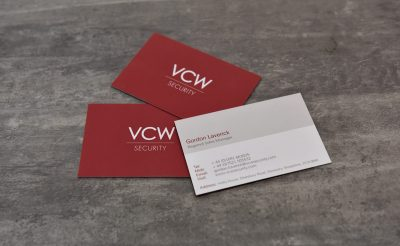 VCW business cards - security business cards