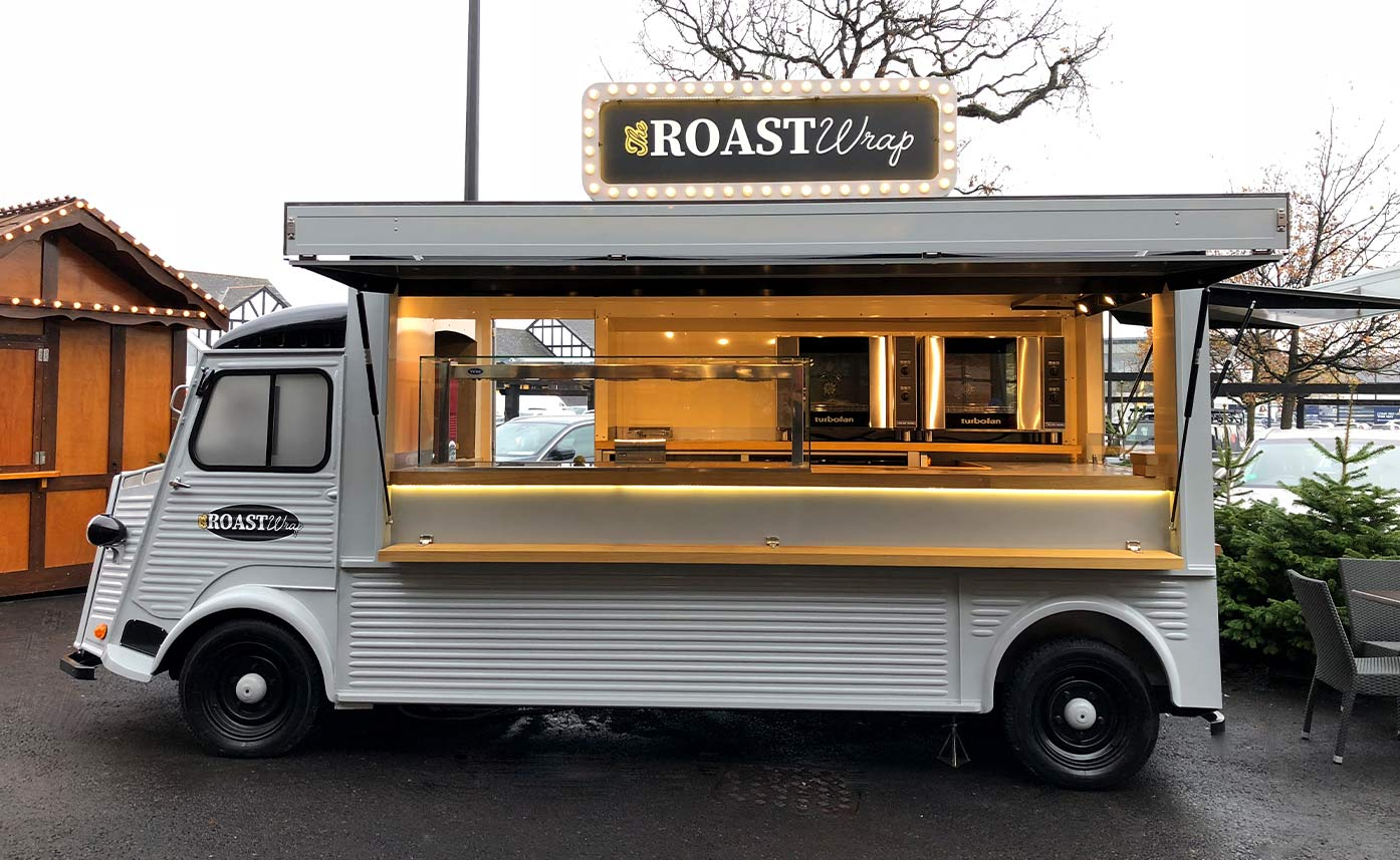 Roast Wraps Cheshire Oaks HY Van Catering Conversion