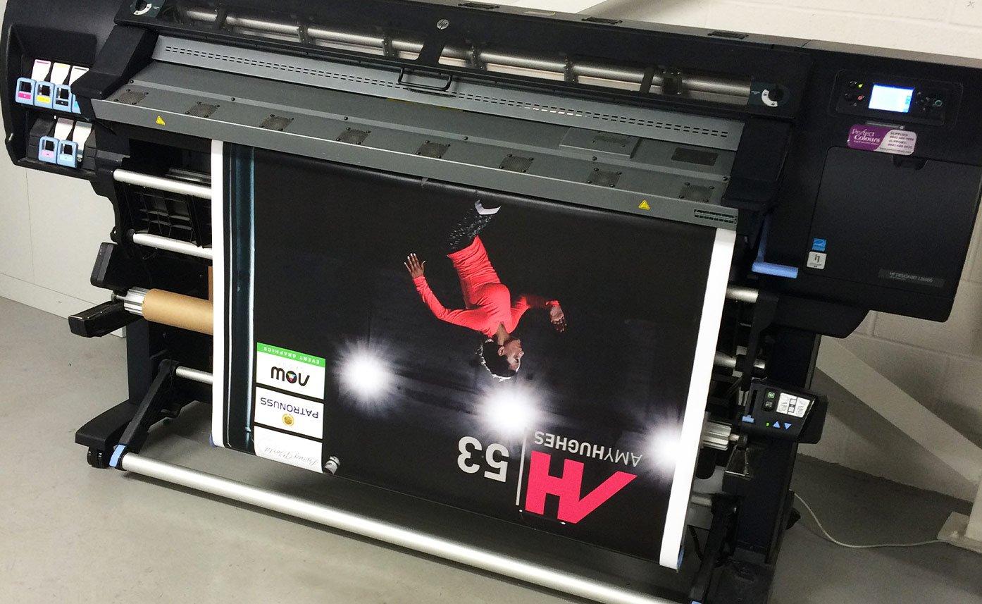 53:53 Marathons printed rollups wide format printing Oswestry