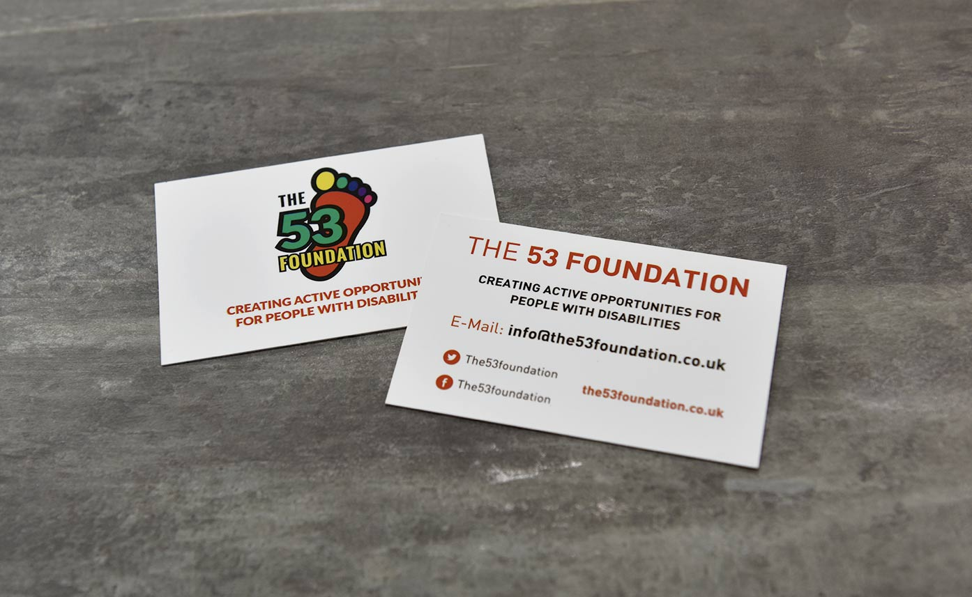 The 53 Foundation business cards printing oswestry