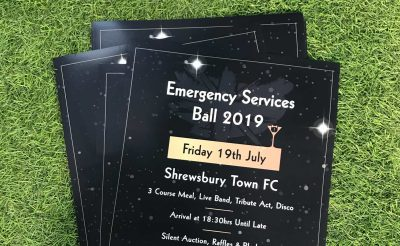 Emergency Services Ball printed posters
