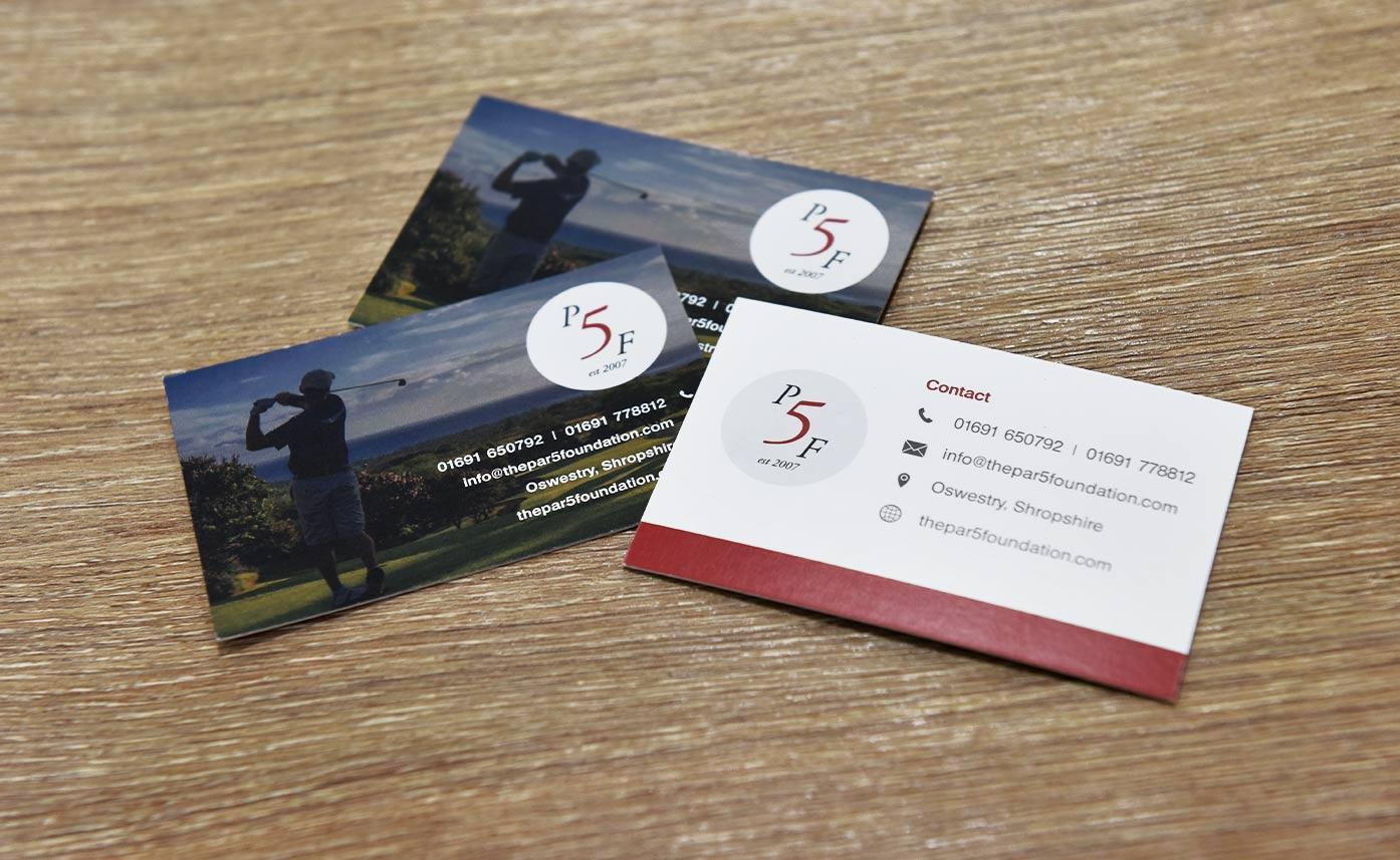 The Par 5 Foundation Business Card Printing