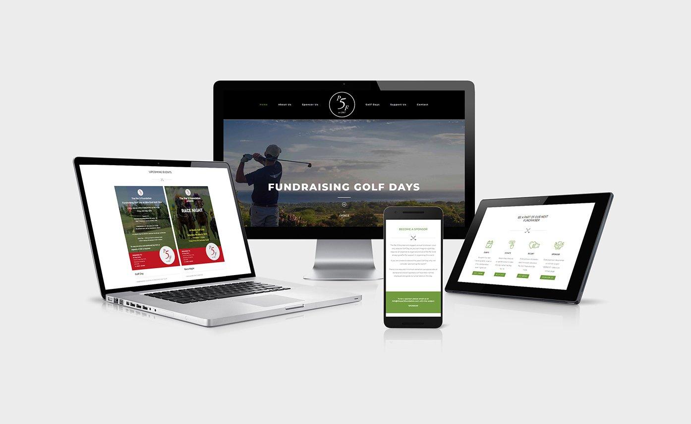 The Par 5 Foundation Website Design Oswestry