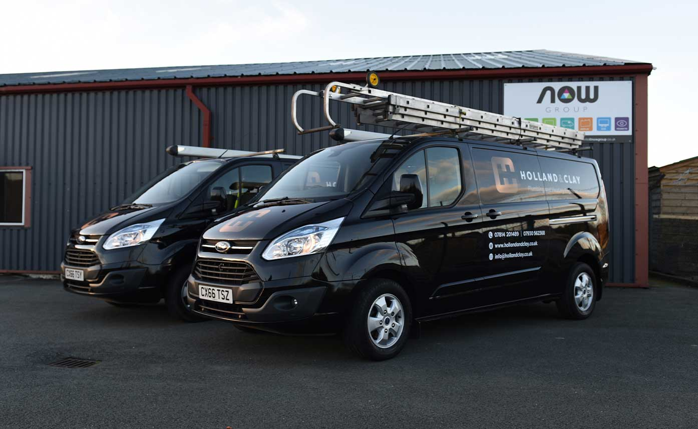Holland and Clay Vehicle Wrap - Black Transit Custom Wrap