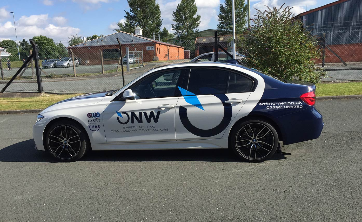 NW Safety Car Wrap - BMW wrap