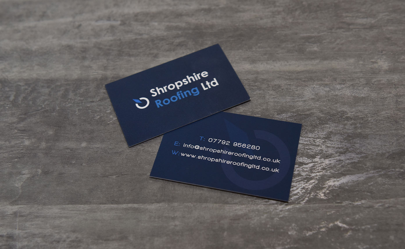 Shropshire Roofing Business Cards - stationery