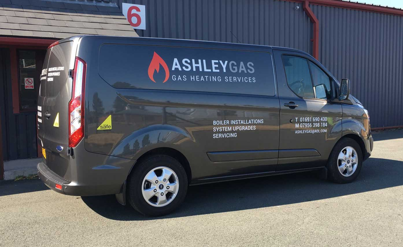 Ashley Gas Vehicle livery - vehicle graphics Oswestry