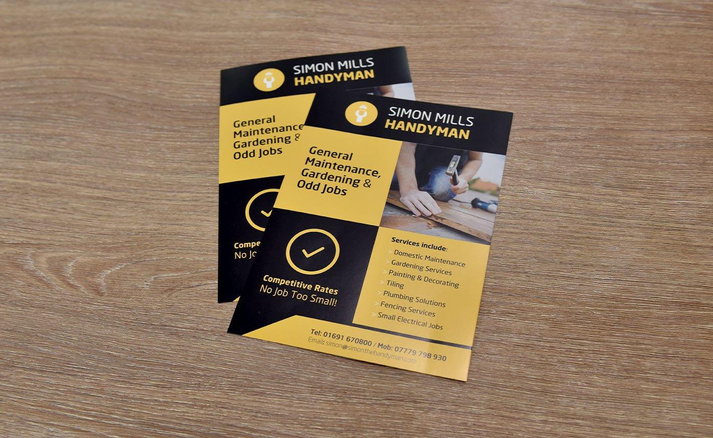 Handyman Oswestry Printed flyers