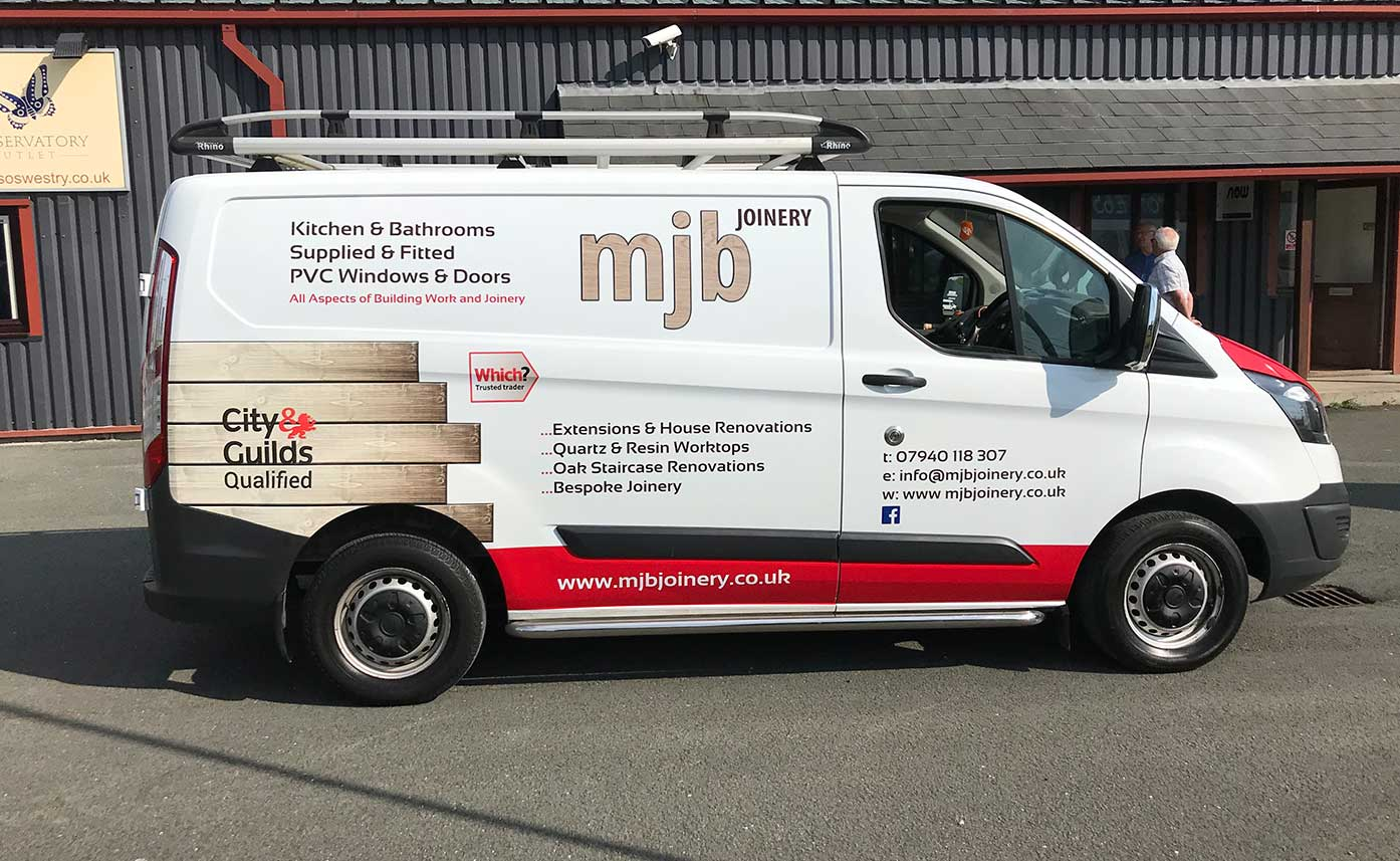 MJB Joinery Vehicle Wrap - Ford Transit Custom Wrap