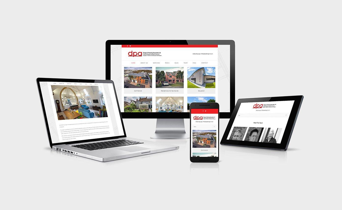 DPA Design website design Oswestry