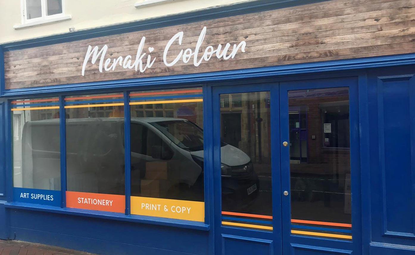 Meraki Colour Shop Signage Window Graphics Oswestry