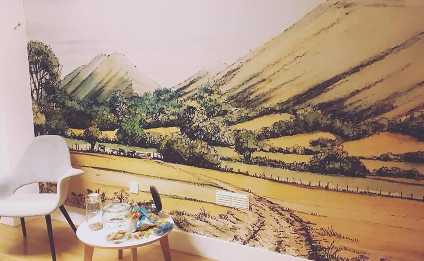 iDEA wall print - wall print of hills