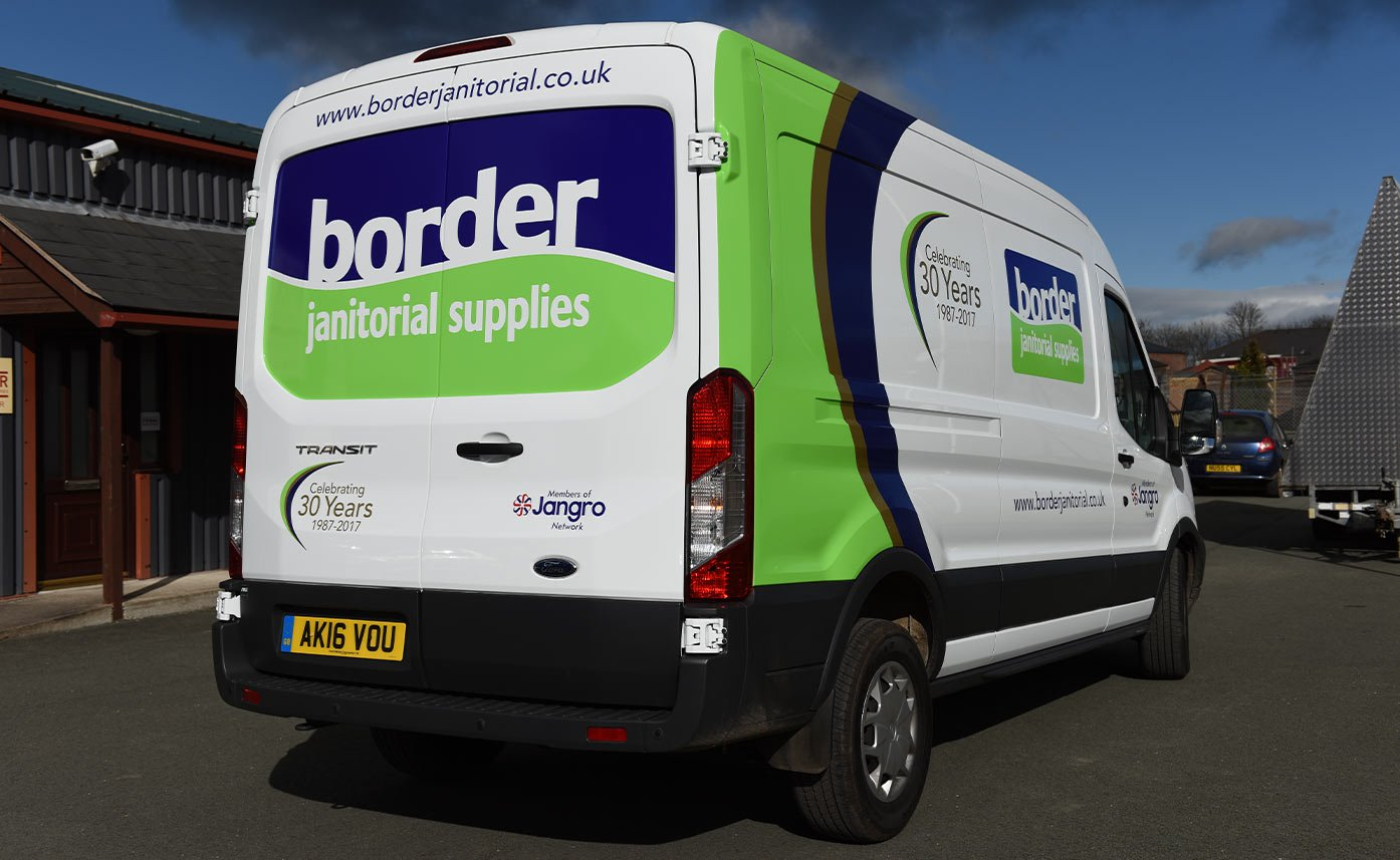 Border Janitorial Supplies Vehicle Wrap - Vehicle livery - Ford Transit Wrap