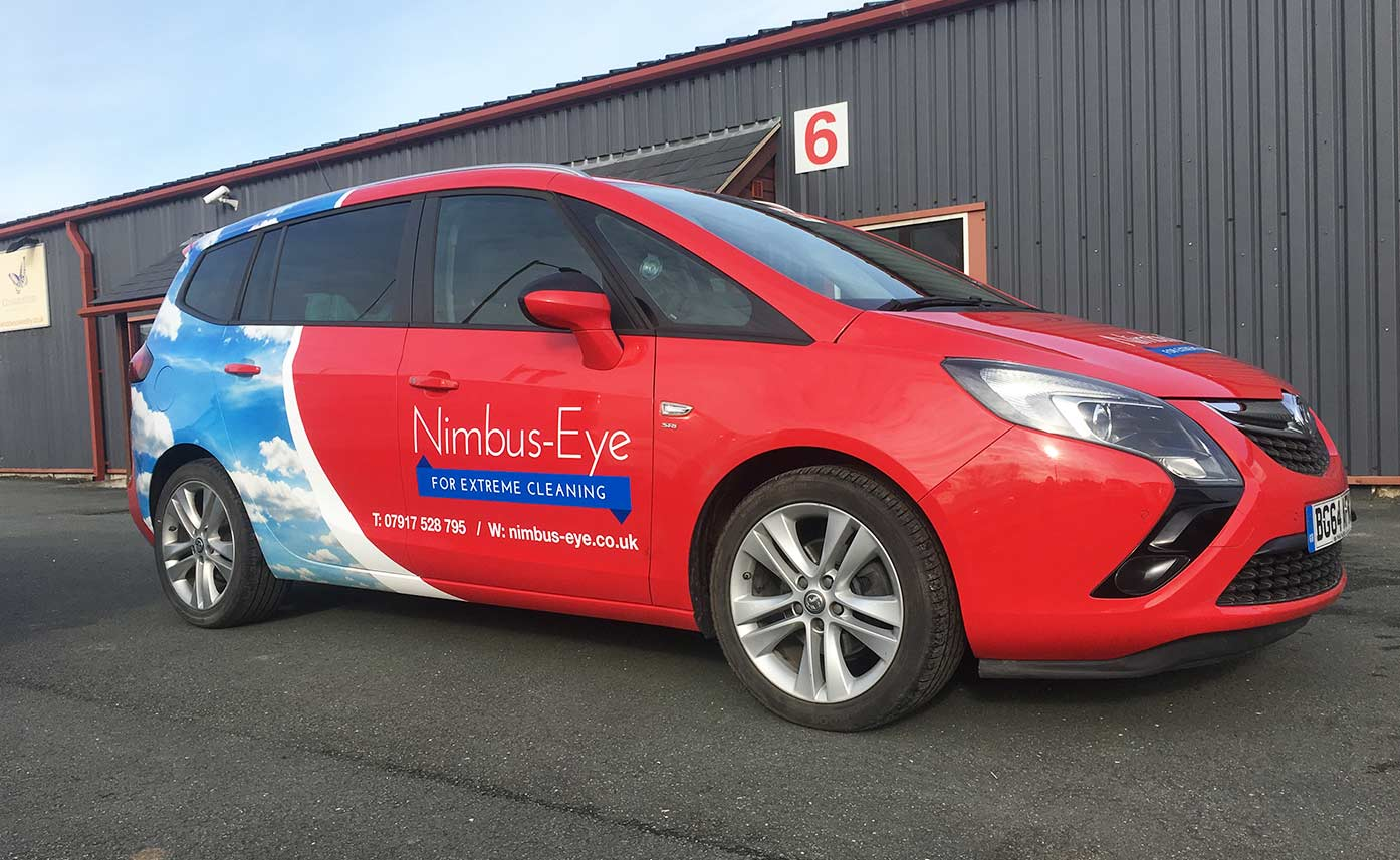 Nimbus Eye Cleaning Vauxhall Zafira Wrap - Partial Wrap