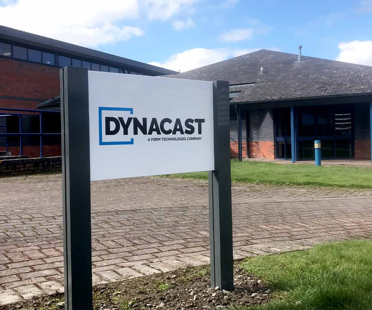 Dynacast post and panel sign - site signage
