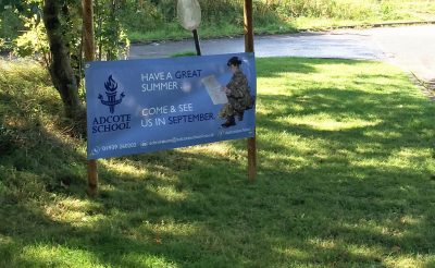 Adcote School Oswestry Printed banners - banner printing Oswestry