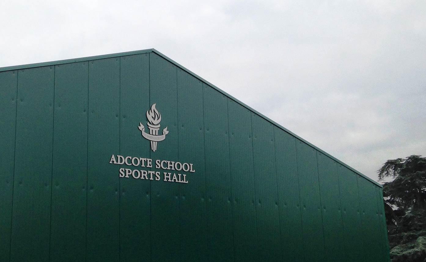 Adcote School Signage - School Building Signage - Sports Hall Signage