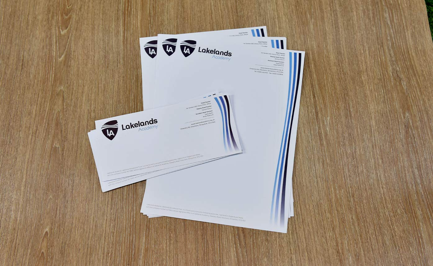 Lakelands Academy Oswestry Stationery - Compliment Slips and Letterheads