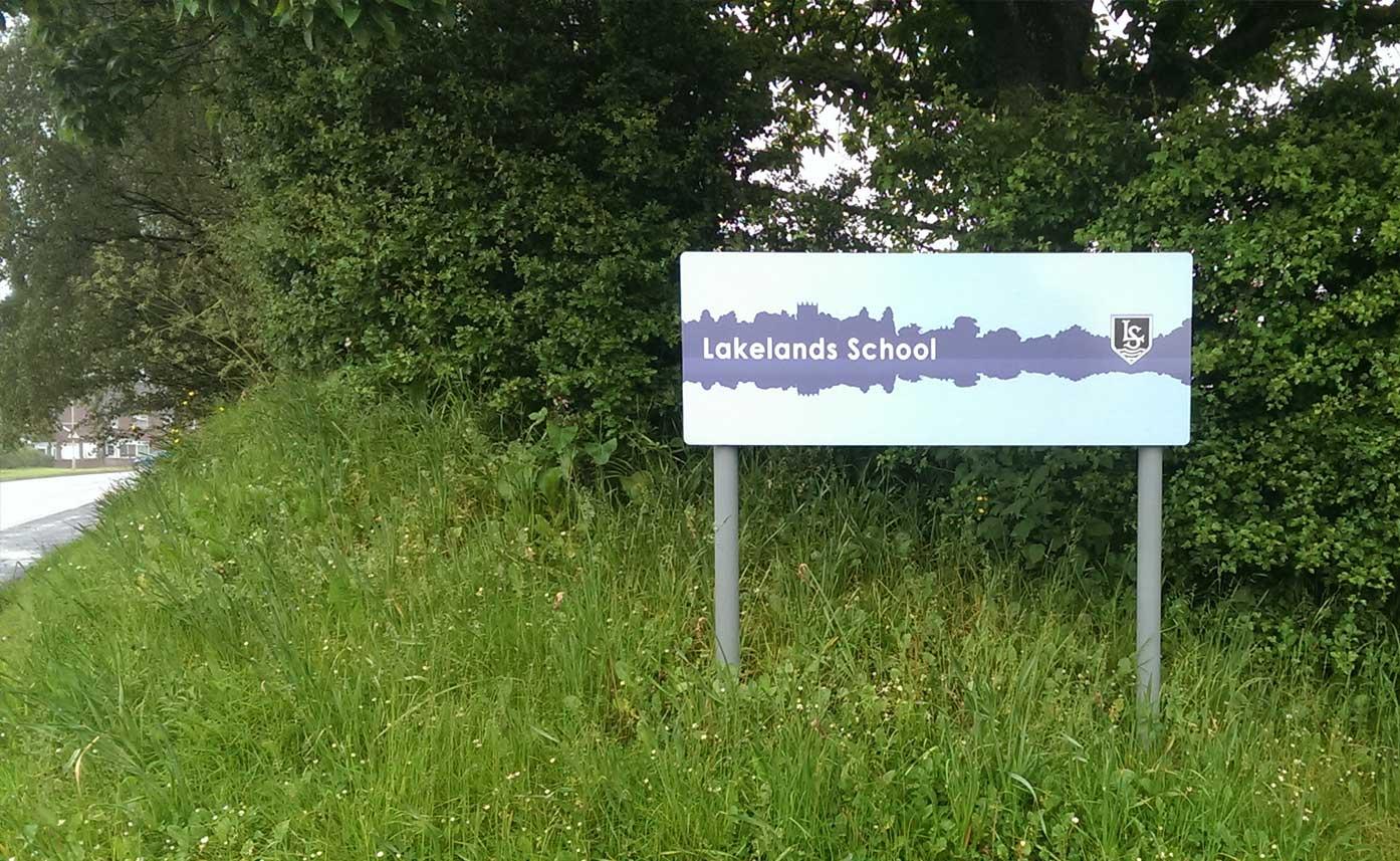 Lakelands School Post Panel Sign - School Signs