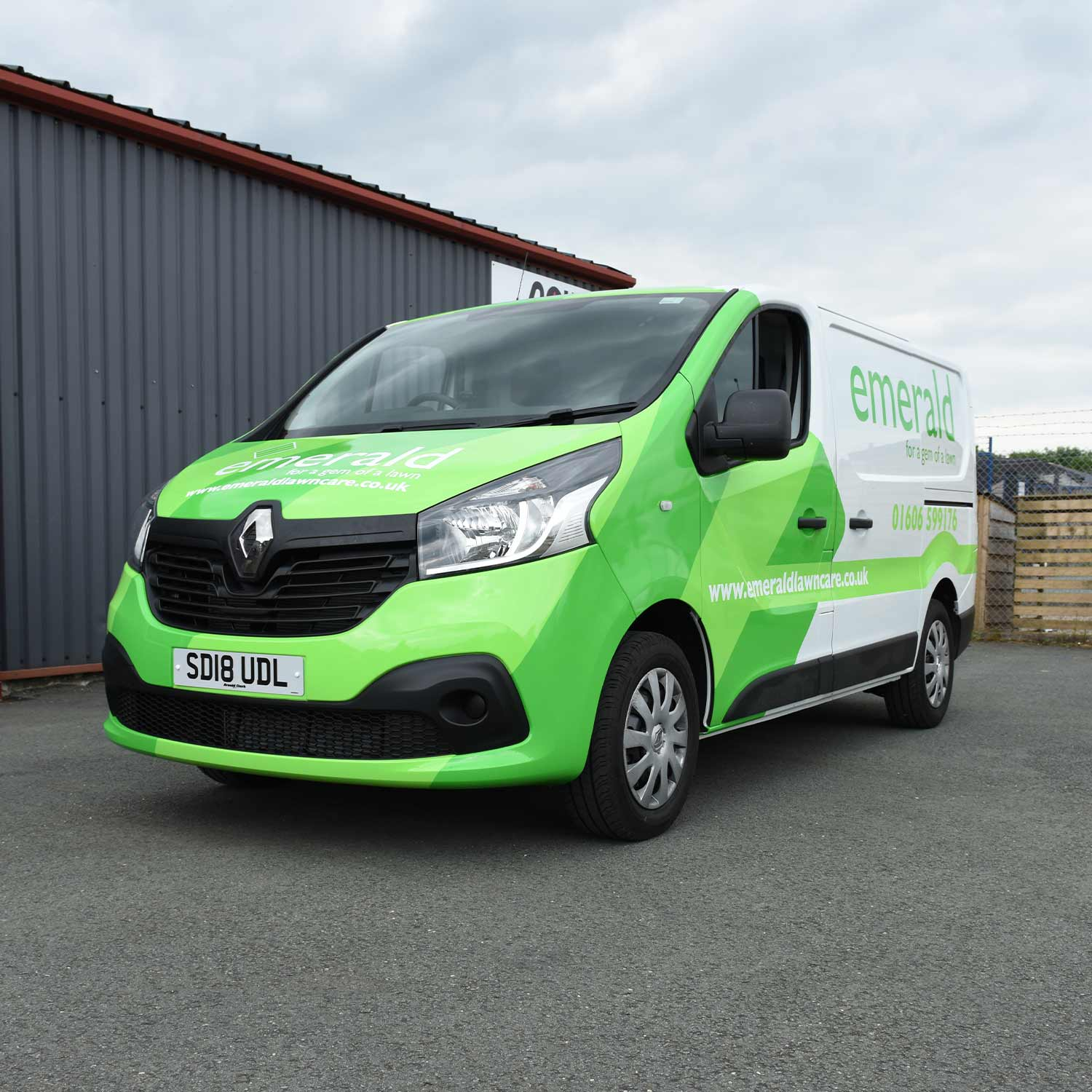 Emerald-Lawn-Care-Van Landscaping Vehicle Wrap