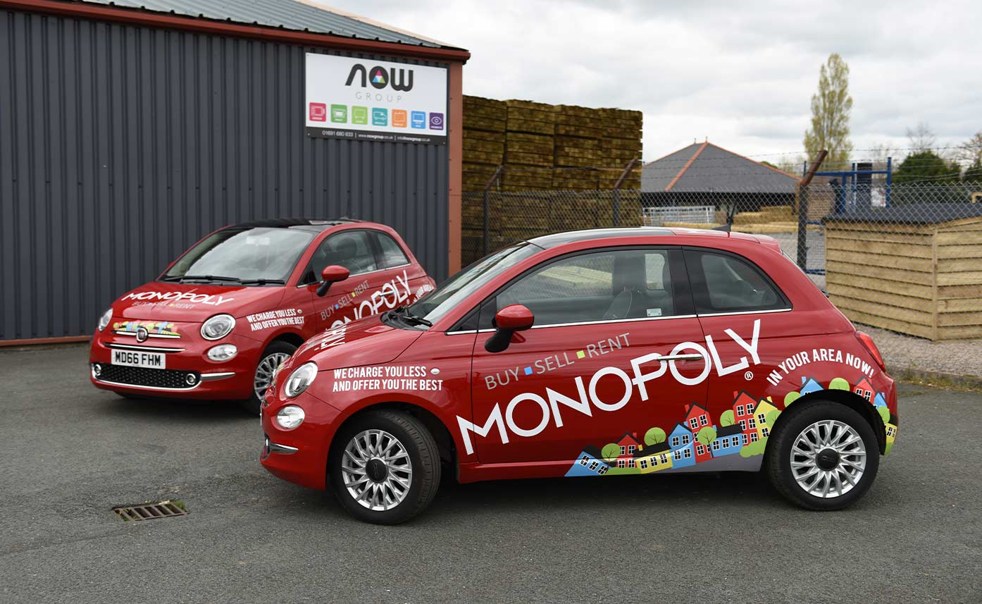 Monopoly Buy Sell Rent Fiat 500 Wrap